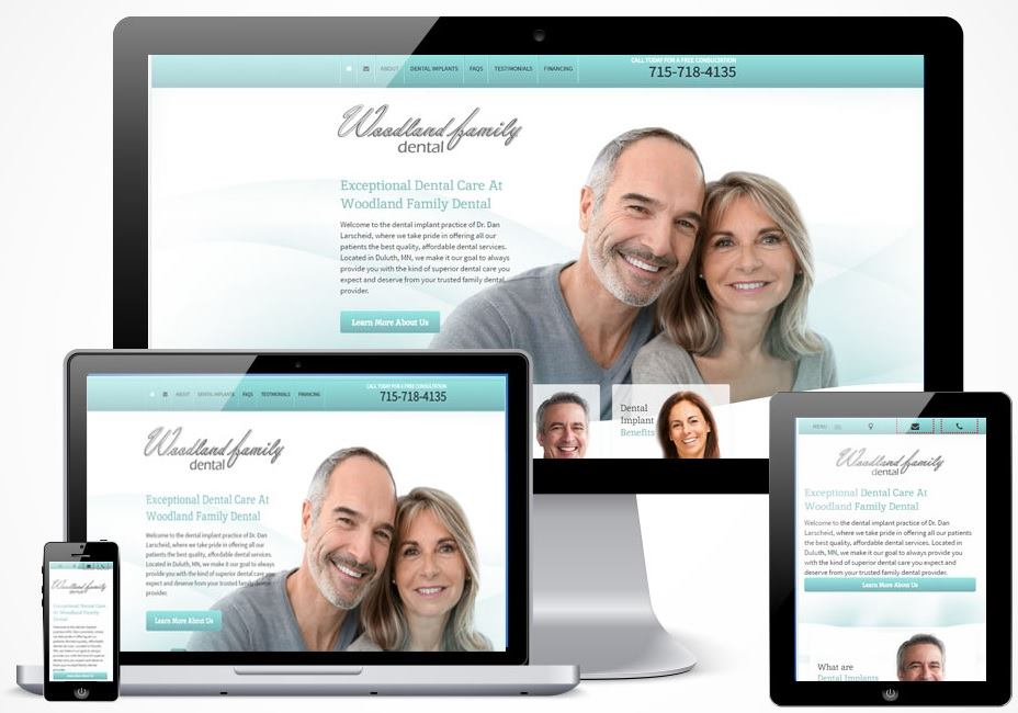 An example of a responsive website.