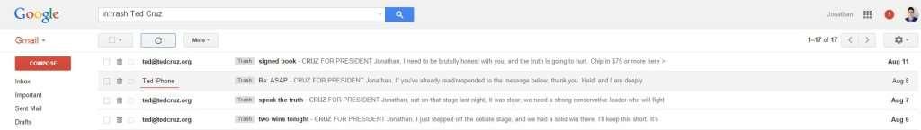Ted Cruz email inbox