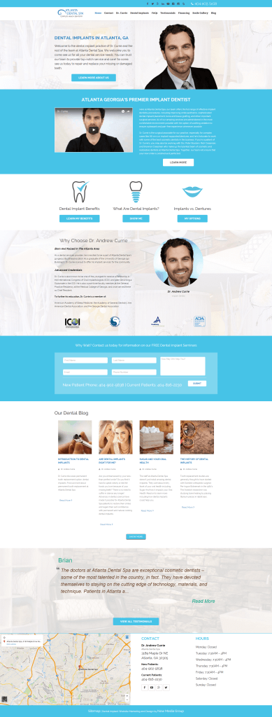 Our new dental implant InfoSite design.
