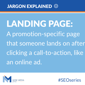 Definition of landing page.