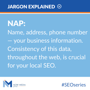 Your NAP should have your local business number.