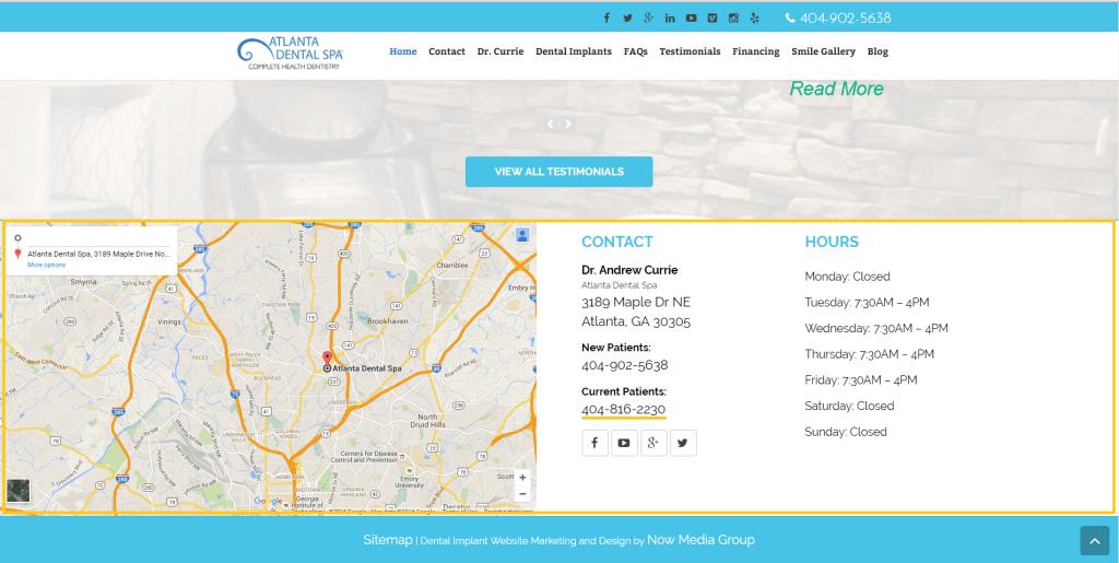 Dental Implants Atlanta -- Footer NAP/Citation