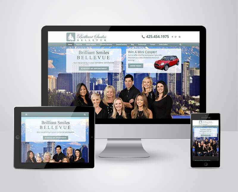 Brilliant Smiles Bellevue Responsive Practice Website