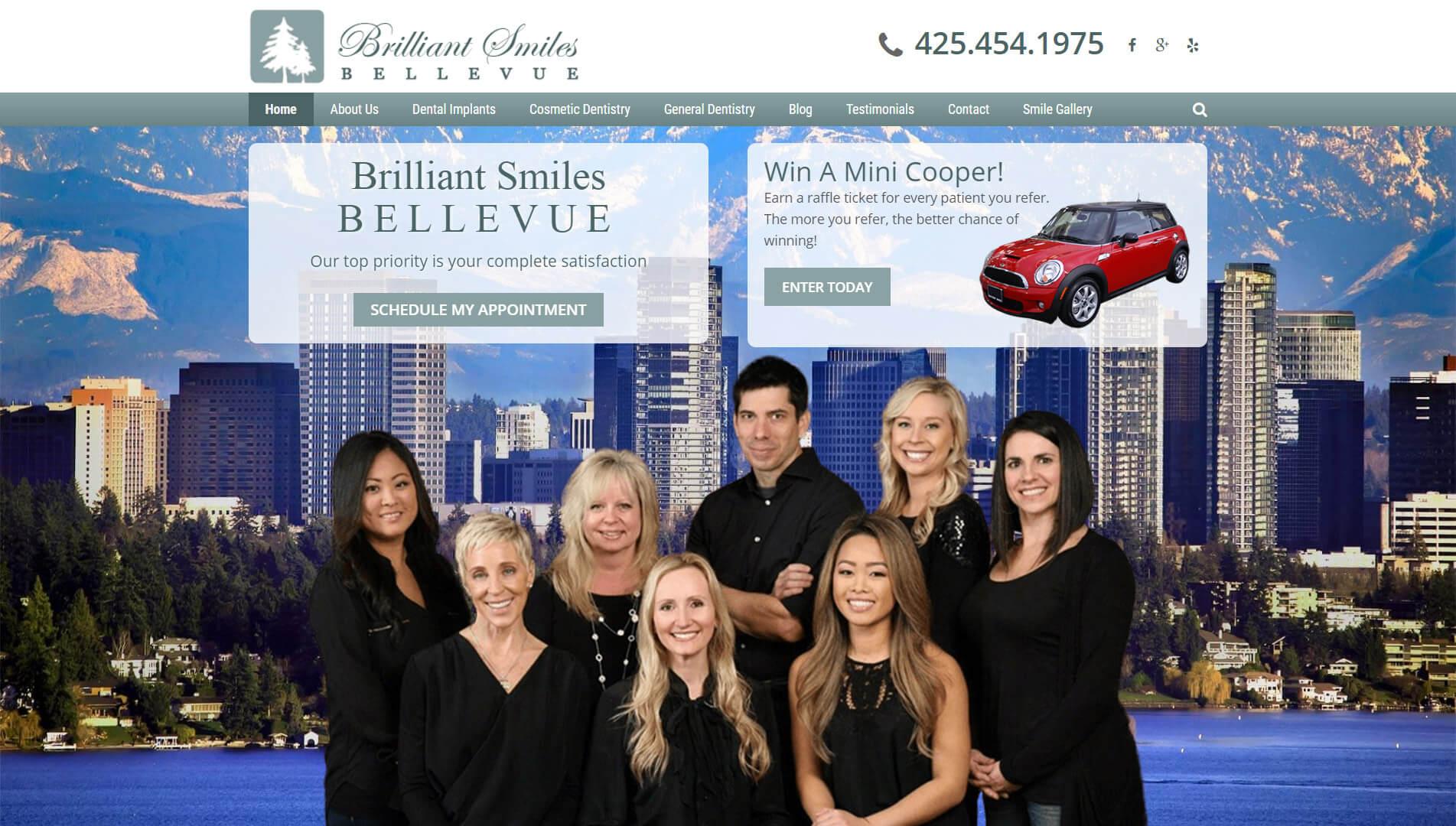 Bellevue Home Page Screenshot