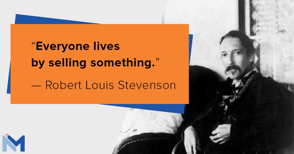 Robert Louis Stevenson on selling